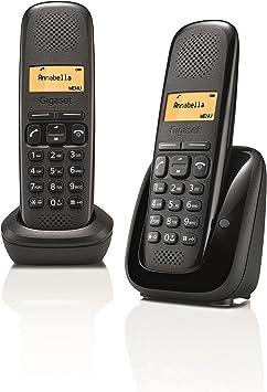 Gigaset A150 Duo DECT Negro - Teléfono (Teléfono DECT, Terminal inalámbrico, Negro): Amazon.es: Electrónica