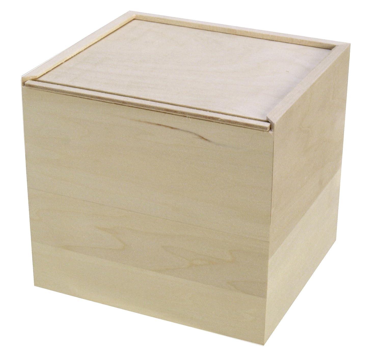 Amazon Com Walnut Hollow Unfinished Wood Card Keeper Box For Arts