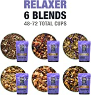 Tiesta Tea Dry Flight Sampler, Relaxer Teas, 7 Count 1 Ounce Pouches, Loose Leaf Herbal Tea Blends, 8 to 12 Servings of Each