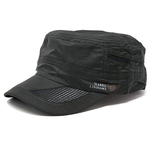 5154308c FashionTS Men's Summer Military Cadet Cap Baseball Hat (Black) at ...