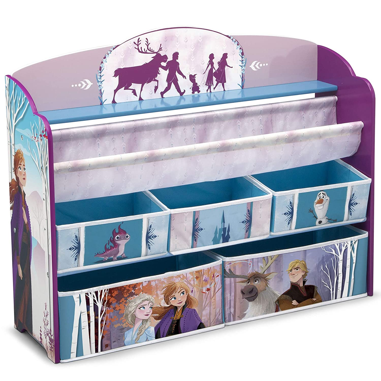 Delta Children Deluxe Toy & Book Organizer, Disney Frozen II