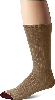 product image for Allen Edmonds Men's Cotton Rib Mid Calf Socks, Khaki, Sock Size:10-13/Shoe Size: 6-12/Standard