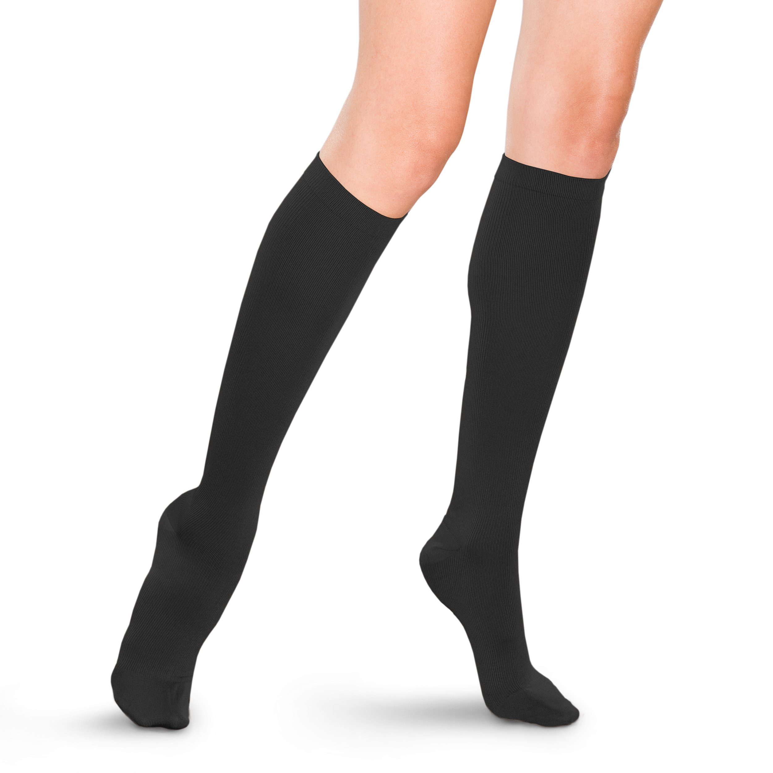 Therafirm Women's Trouser Socks with Mild (15-20mmHg) Compression - Large - Black by Therafirm