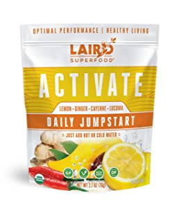 Laird Superfood Organic ACTIVATE Daily Jumpstart, 2.7oz Bag