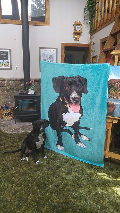 Your Dog On A Blanket Personalized Pet Photo Blanket Custom Dog Face Blankets Dog Keepsake Gifts