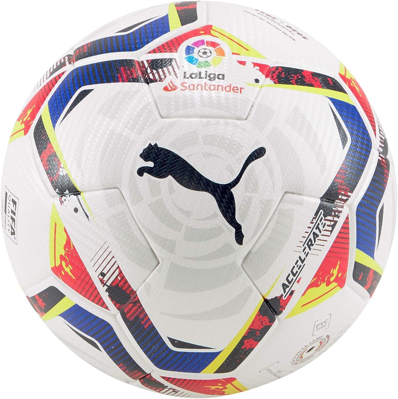PUMA LaLiga 1 Accelerate (FIFA Quality Pro) WP Balón de Fútbol, Unisex-Adult, White-Multi Colour, 5: Amazon.es: Deportes y aire libre