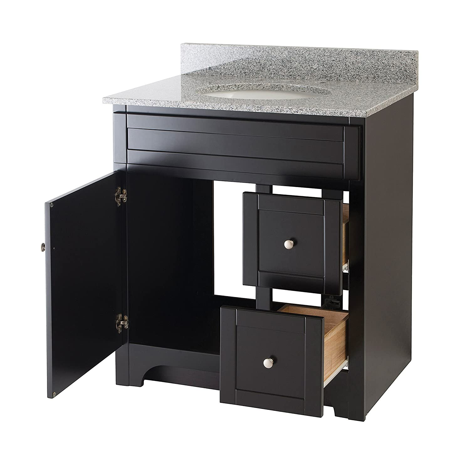 30 inch bathroom vanity with sink. Amazon com  Foremost WREAT3021D 8M Worthington 30 Inch Espresso Bathroom Vanity with Meteorite Gray Granite Top and White Vitreous China Sink Home