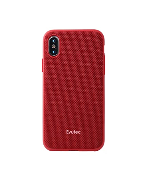 brand new 13b35 e6ec2 Case Compatible with iPhone Xs & iPhoneX, Evutec AERGO Series Ballistic  Nylon + 3D TPU Interior Wireless Charging Compatible Premium Protective  Phone ...