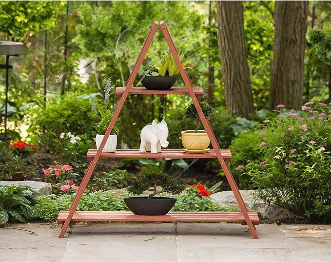 Ocio temporada escalera estantería para plantas: Amazon.es: Jardín