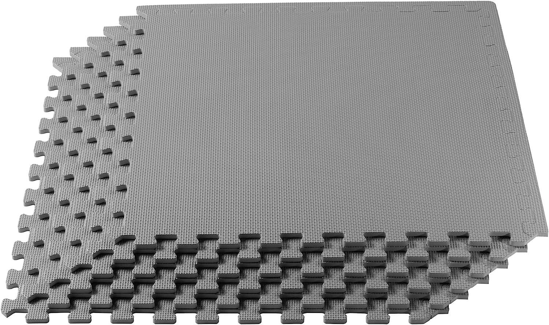 Multipurpose Floor Mat EVA Foam 8 TILES=32 SQ FEET Interlocking//Anti-Fatigue
