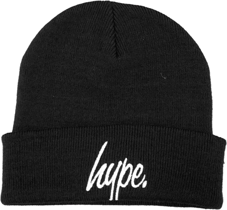 Bobble Beanie In Black With Logo - Black Hype tu0zN