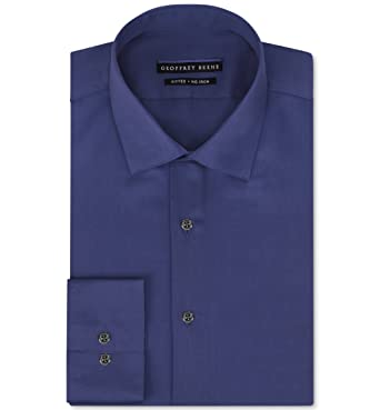 4d11ac39391 Image Unavailable. Image not available for. Color  Geoffrey Beene Non-Iron  Fitted Stretch Sateen Solid Dress Shirt ...