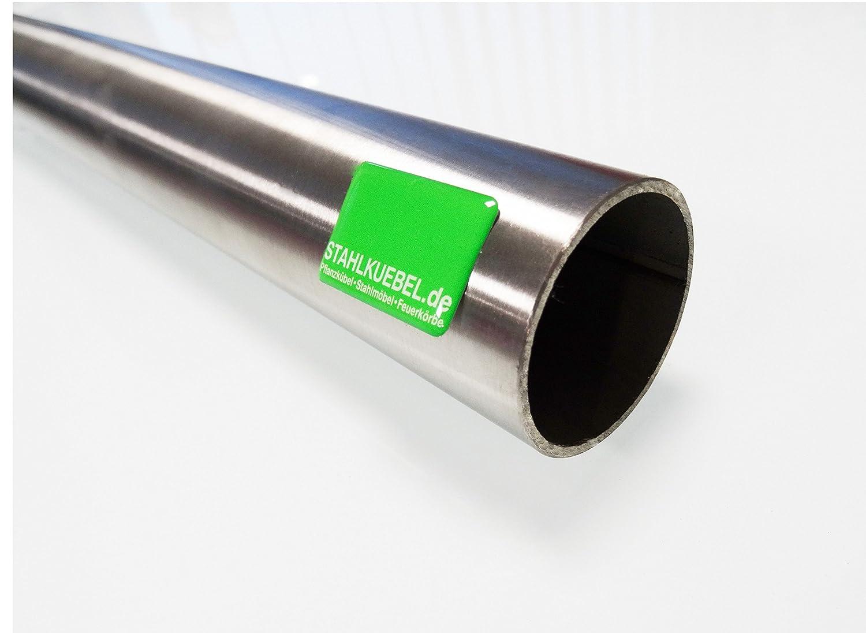 Edelstahlrohr 42,4 x 2 mm V2A Korn 240 geschliffen 1m Edelstahlrundrohr-rostfrei Rohr Gel/änderrohr Handlaufrohr Rundrohr Stahlrohr