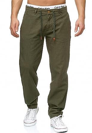 Indicode Herren Veneto Leinen-Hose Lange Hose Bequeme Stoffhose aus  Hochwertiger Leinenmischung  Amazon.de  Bekleidung 09ef1984ea