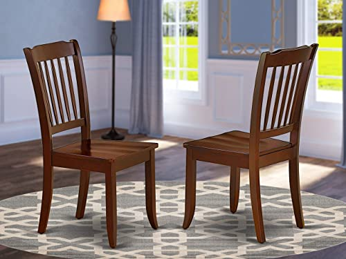 East West Furniture Danbury Dining Vertical Slatted Chairs Back