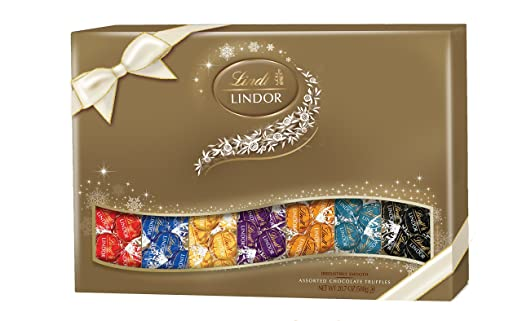 Lindt LINDOR Assorted Chocolate Deluxe Sampler Gift Box