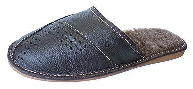 BARJA - Zapatillas de estar por casa para hombre marrón marrón, color marrón, talla 45 EU