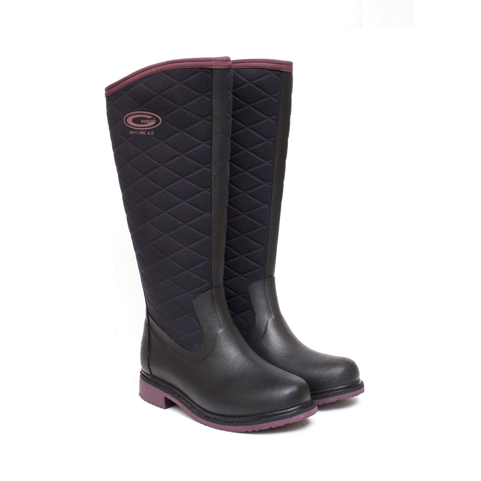 Grubs Womens/Ladies Skyline Boots (10 US) (Black/Heather)