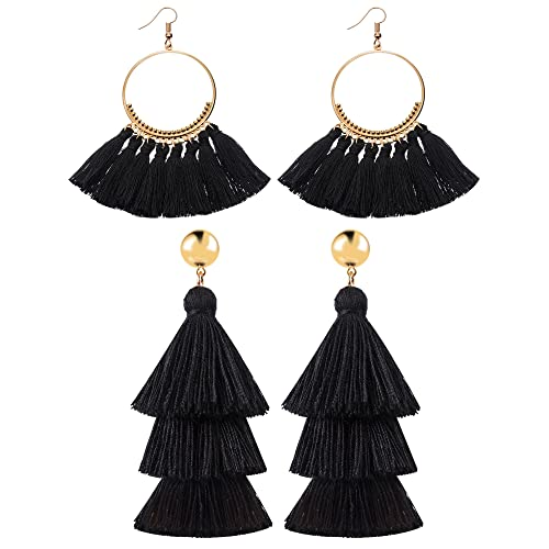 Black And Gold Earrings Amazon Co Uk