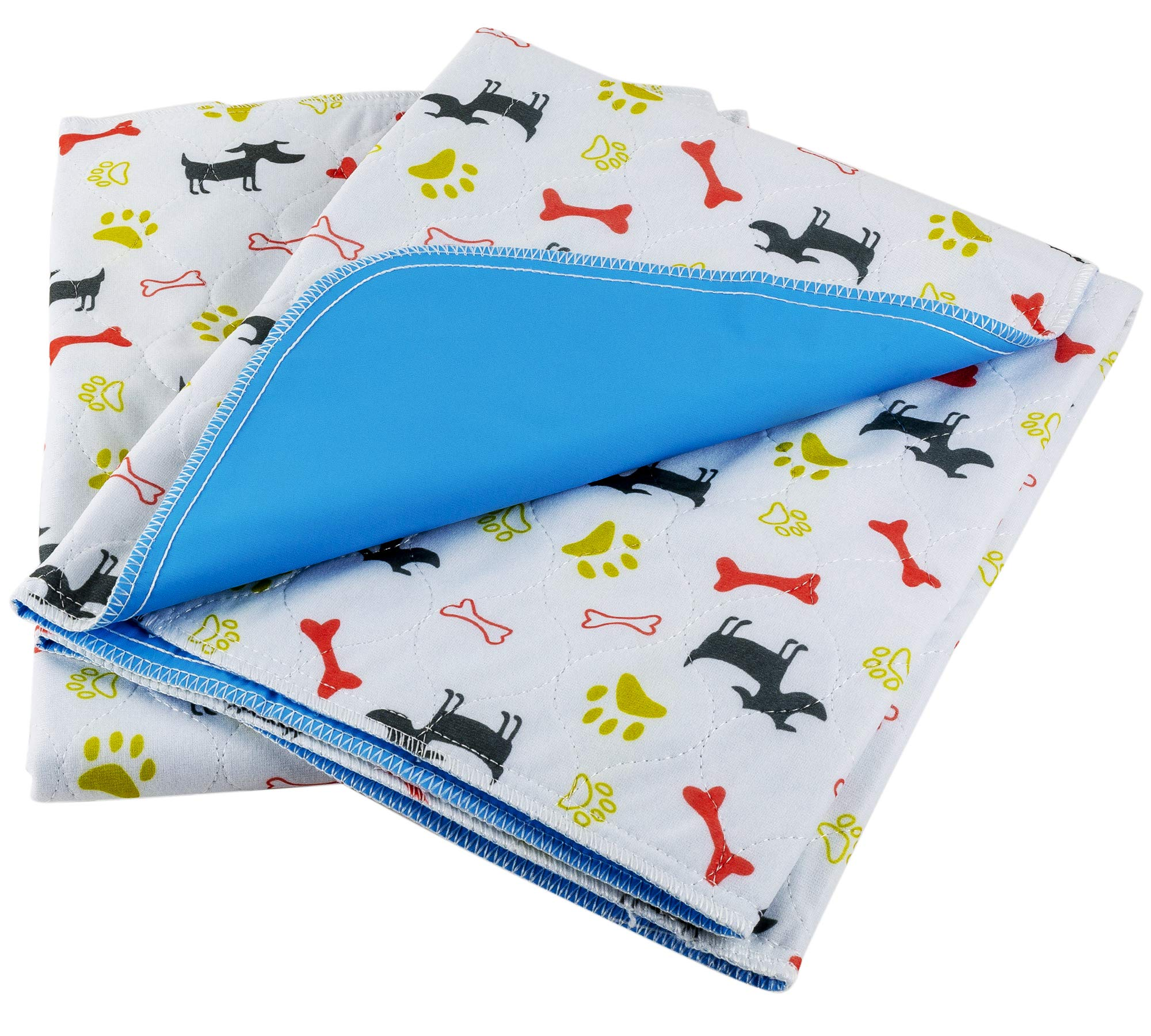 ChewieMac Washable Pee Pads for Dogs (2-Pack) Large, Reusable Puppy & Pet Training Floor Mats   Waterproof, Super Absorbent, Leakproof   Whelping, Potty, and Crate Use