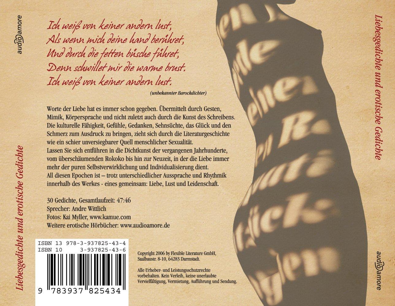 Liebesgedichte Und Erotische Gedichte Cd Deutsche Lyrik