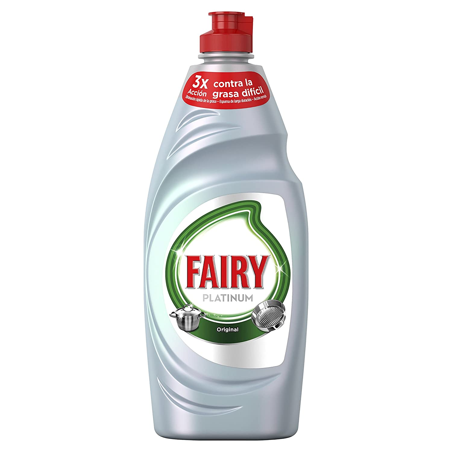 Fairy Platinum Original Líquido Lavavajillas - 500 ml: Amazon.es: Amazon Pantry