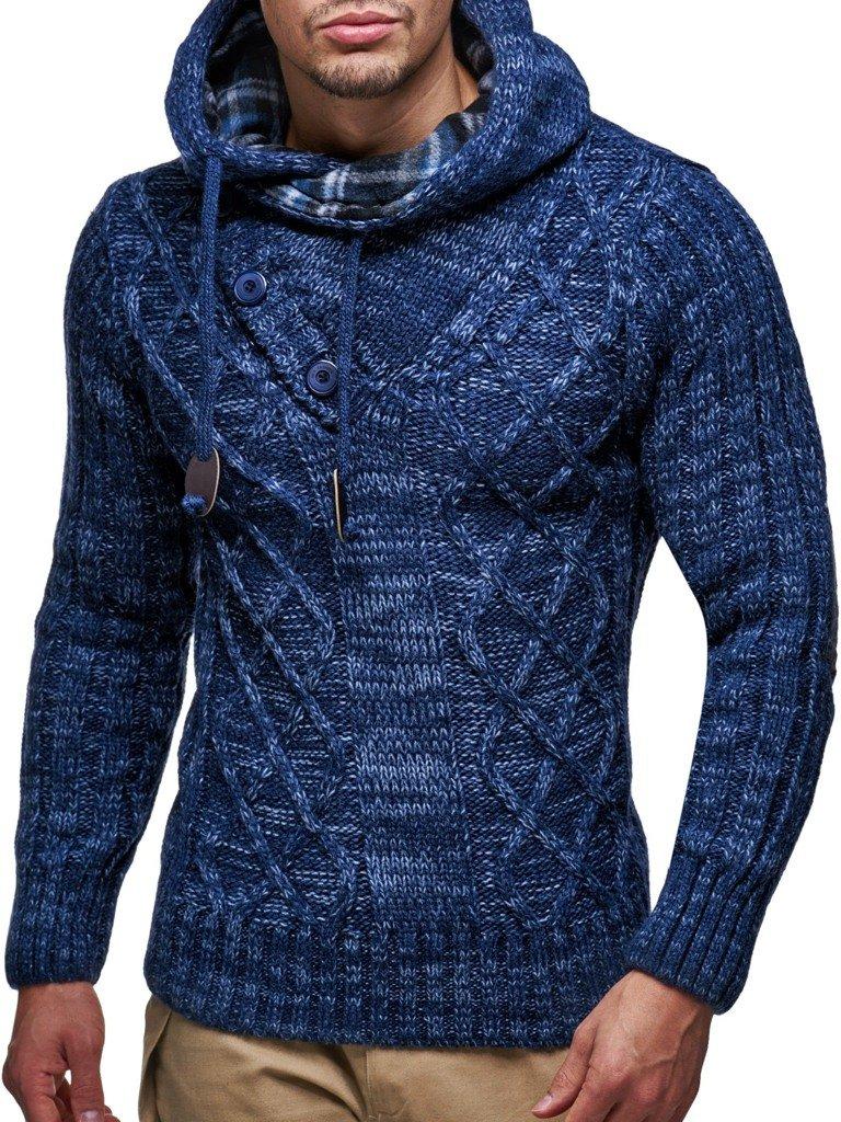 LEIF NELSON Herren Pullover Hoodie Kapuzenpullover Strickpullover Longsleeve Sweater Sweatshirt Pulli LN10346