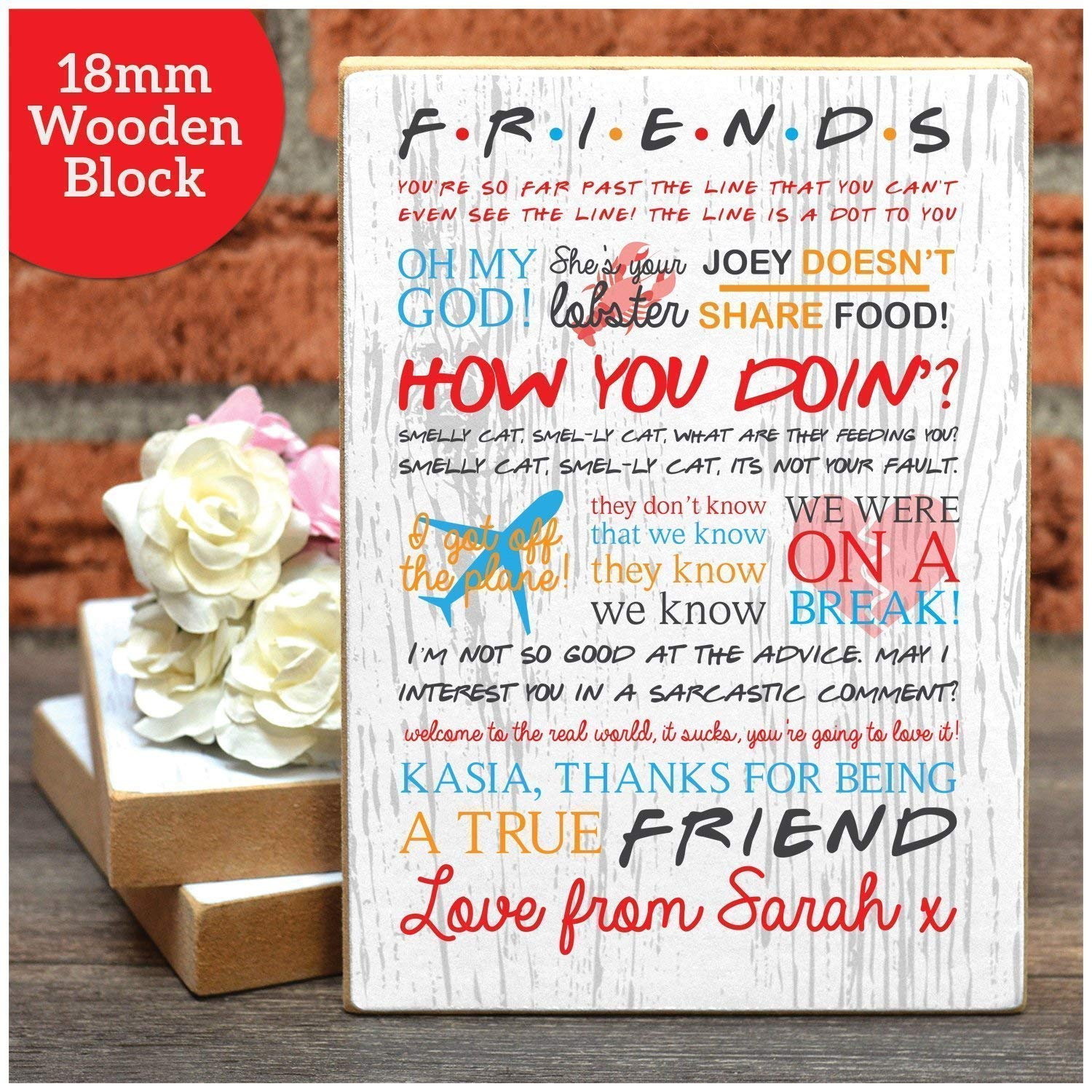 Buy A Fantastic Full Colour Personalised Friends Gift