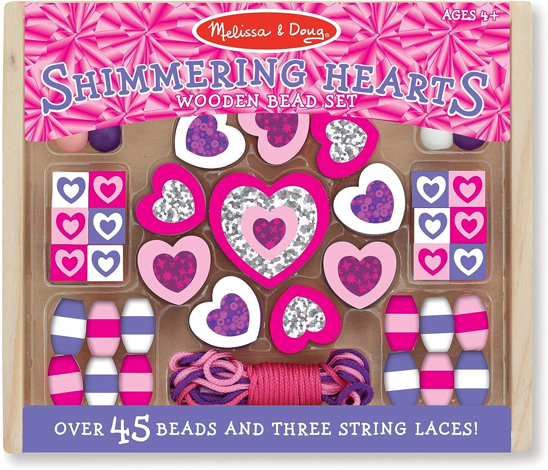 Melissa & Doug Shimmering Hearts Wooden Bead Set £3.99 @ Amazon