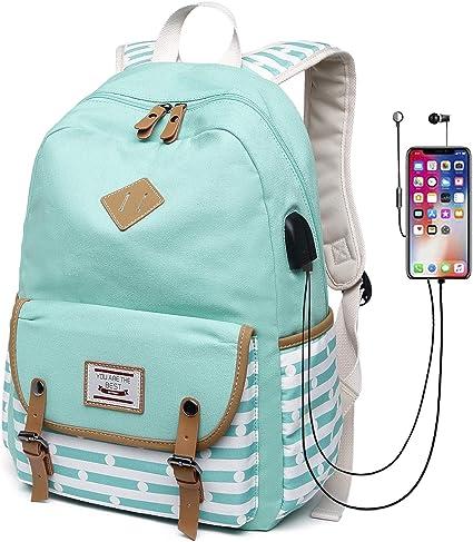 Amazon Com Canvas Travel Laptop Backpacks Girls Women College