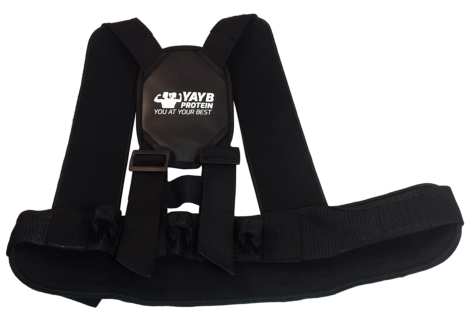 Yayb Strongman Camion tirer Harness-crossfit-car-sled-dragging-3 point Attachment-heavy Duty Strongman Harnais BarNx