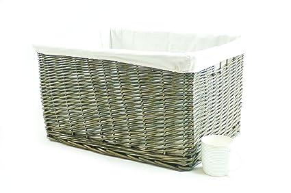 Big Huge Deep Children Kids Baby Nursery Storage Wicker Basket Toy Box Organiser