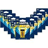 Varta 4122 10er-Pack Batterie Alkaline E Block für Feuermelder Rauchmelder Feuchtigkeitsmessgeräte, 9V