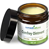 Remedinature Comfrey Ointment 60ml: Natural Odourless Body Joint Skin Balm