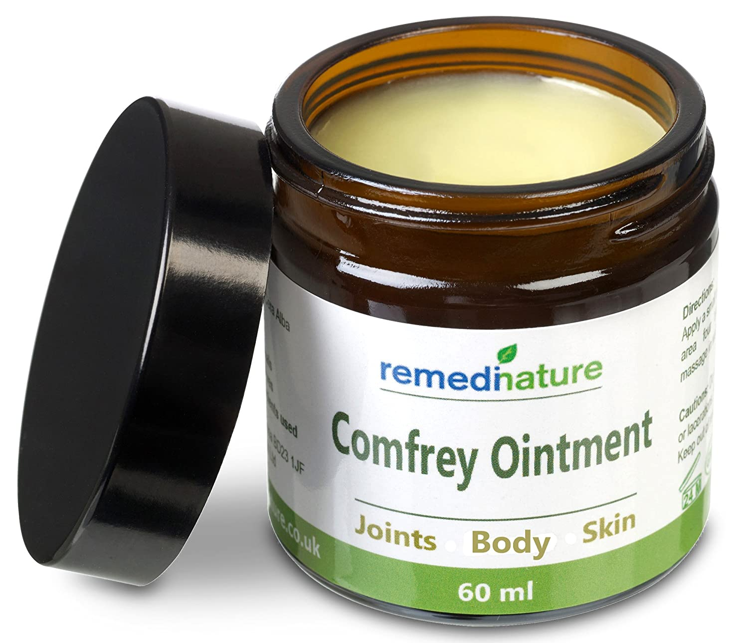 Remedinature Comfrey Ointment 60ml: Natural Odourless Body Joint Skin Balm Avena Remedies