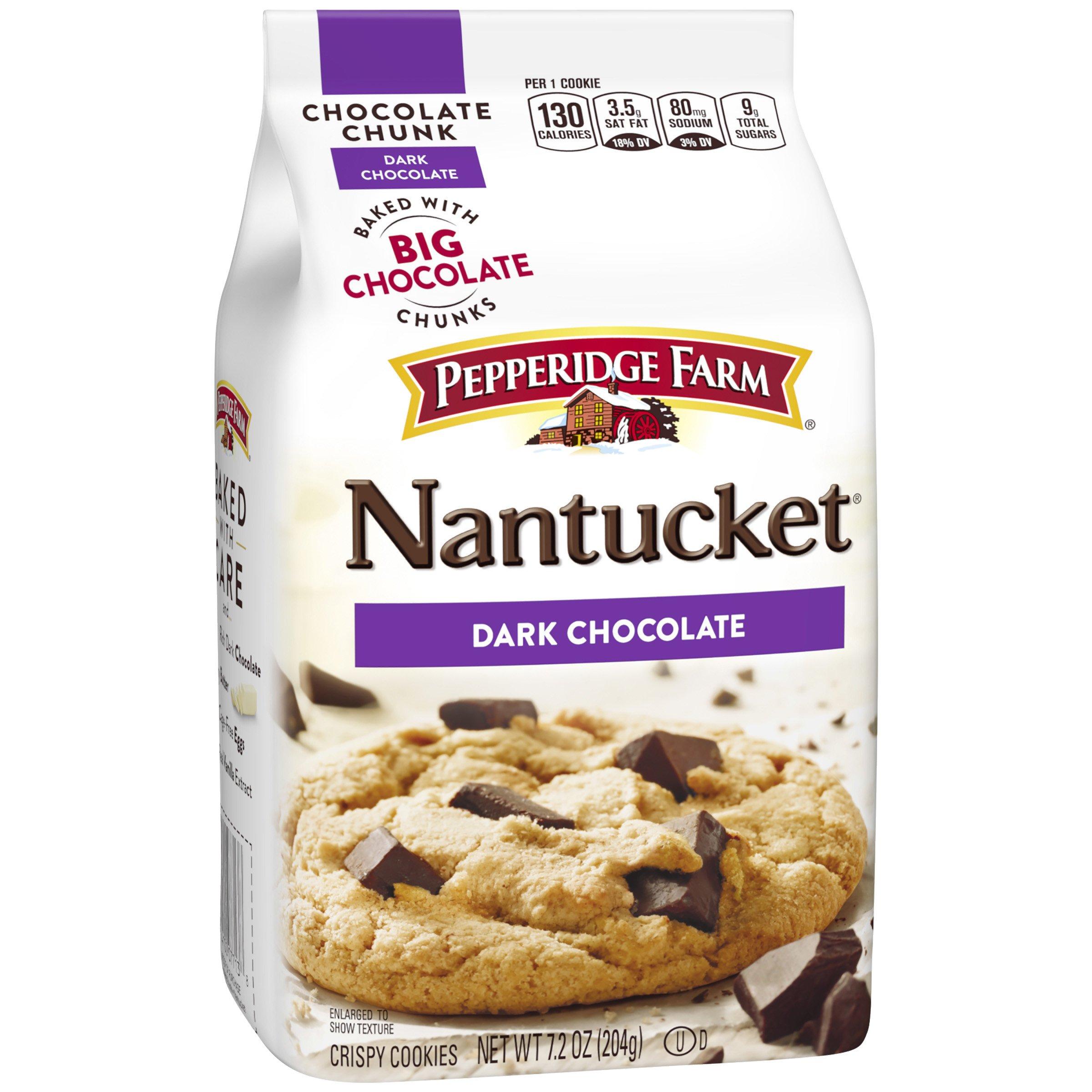 Pepperidge Farm, Nantucket, Crispy, Cookies, Dark Chocolate, 7.2oz, Bag, 20-count