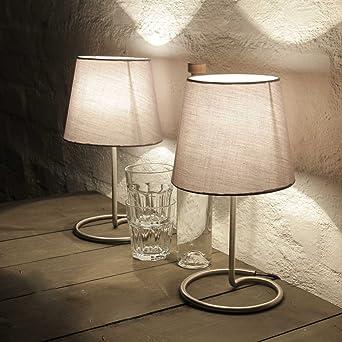 Lámpara de noche decorativa en práctico set de 2 con tulipa de ...