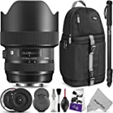 Sigma 14-24mm f/2.8 DG HSM Art Lens for NIKON F w/Sigma USB Dock & Advanced Photo and Travel Bundle
