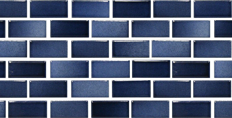 Fujiwa Porcelain Swimming Pool Waterline Tile - GLASSTEL 11 Indigo ...