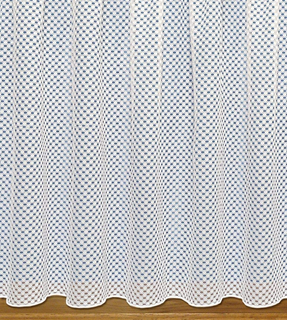 "John Aird Modern Vision Geometirc Design Net Curtain - Width Sold By The Metre - (Drop: 54"" (137cm))"