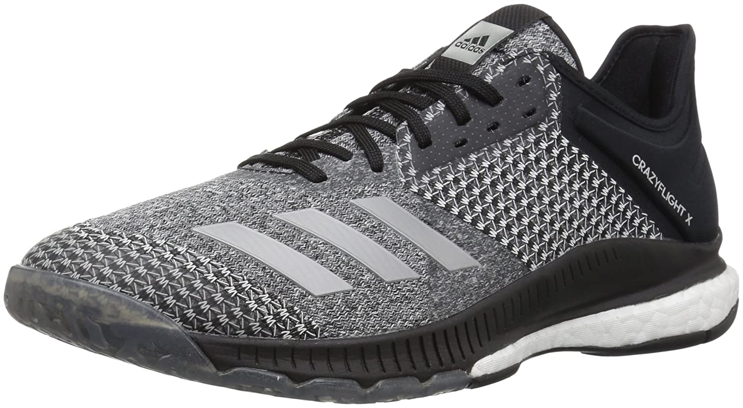 adidas Women's Crazyflight X 2 Volleyball Shoe B077X4NQBS 6.5 B(M) US|Black/Silver Metallic/White