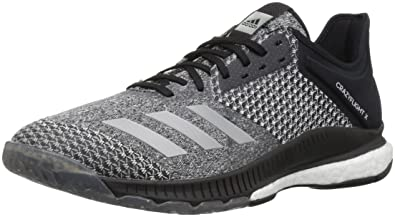 detailed look 9c7ab 42fd3 adidas Womens Crazyflight X 2 Volleyball Shoe BlackSilver MetallicWhite 5  M US