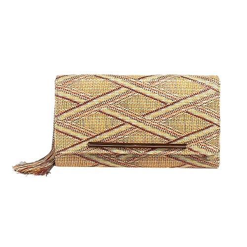 Parfois - Cartera de mano para mujer, color Beige, talla Medium: Amazon.es: Zapatos y complementos