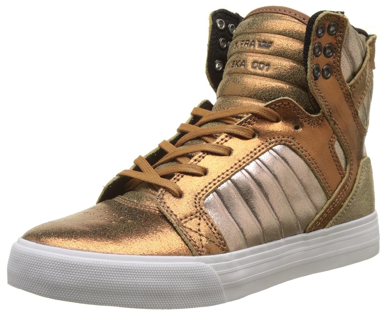 Supra Women's Skytop Sneaker B01NASD9VM 7.5 B(M) US|Metallic Pewter/White