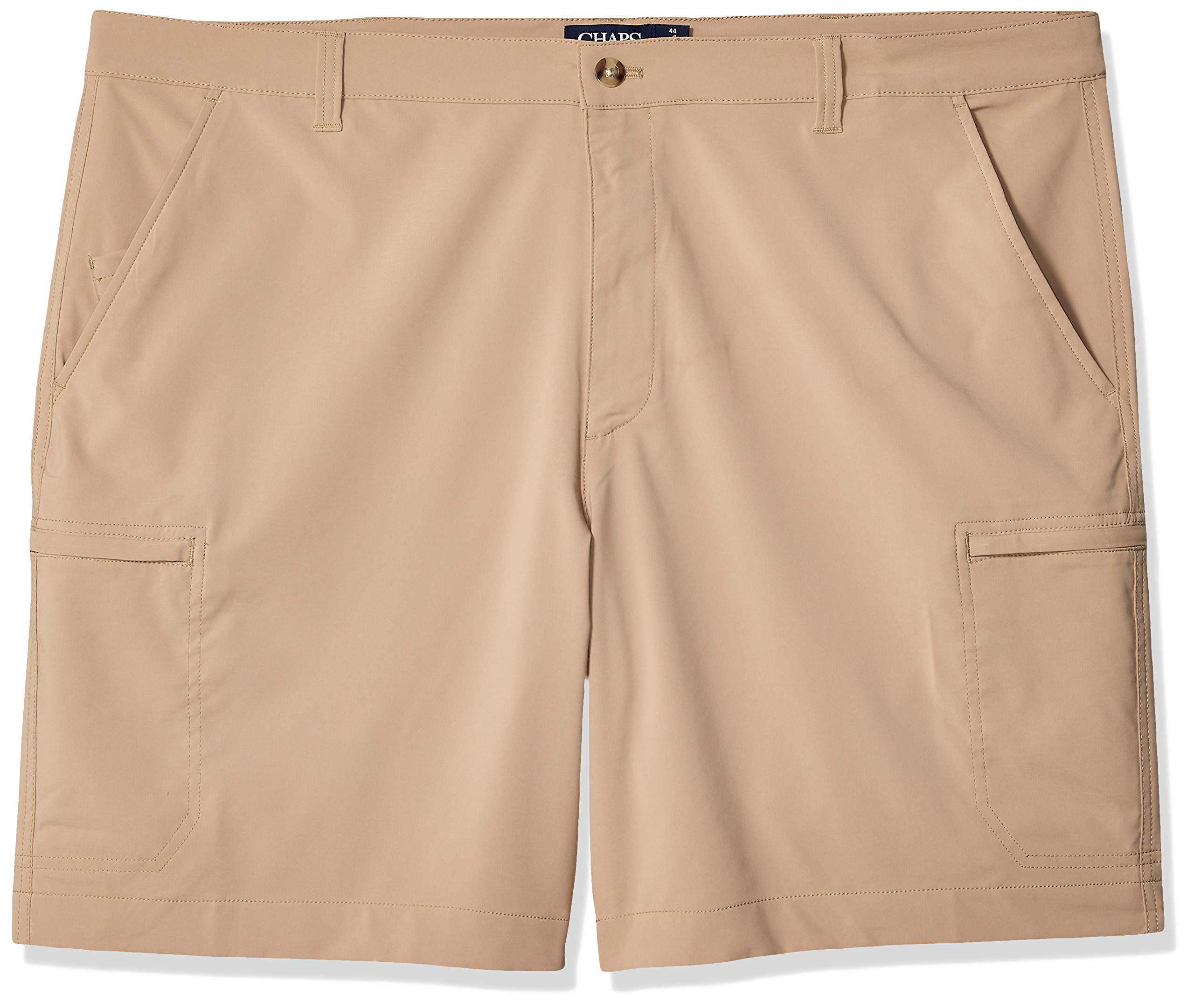 Chaps Men's Big and Tall Performance Cargo Short, Crawford tan, 44B