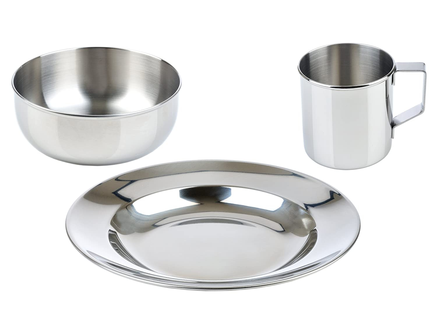 Amazon LunchBots Childrens Stainless Steel Dish Set