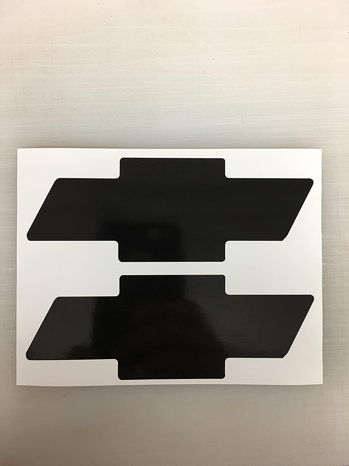 2 Chevrolet Chevy Bowtie Decal by SBD Decals Various Sizes & Color (6 inches, Black)