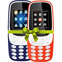 IKALL 4.57 cm (1.8 Inch) Mobile Phone Combo - K3310 (Dark Blue& Red) With Feature Of Currency Detector