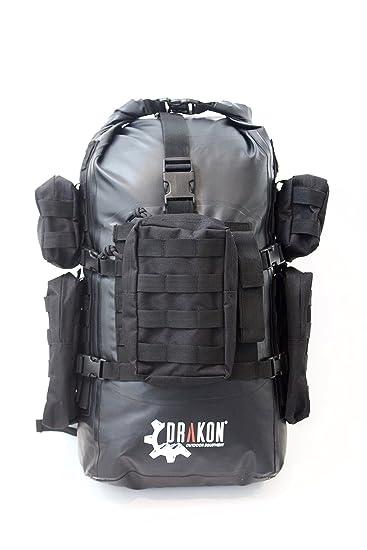Amazon.com : Survival backpack, Drakon, 40L, go bag, caving, dry ...