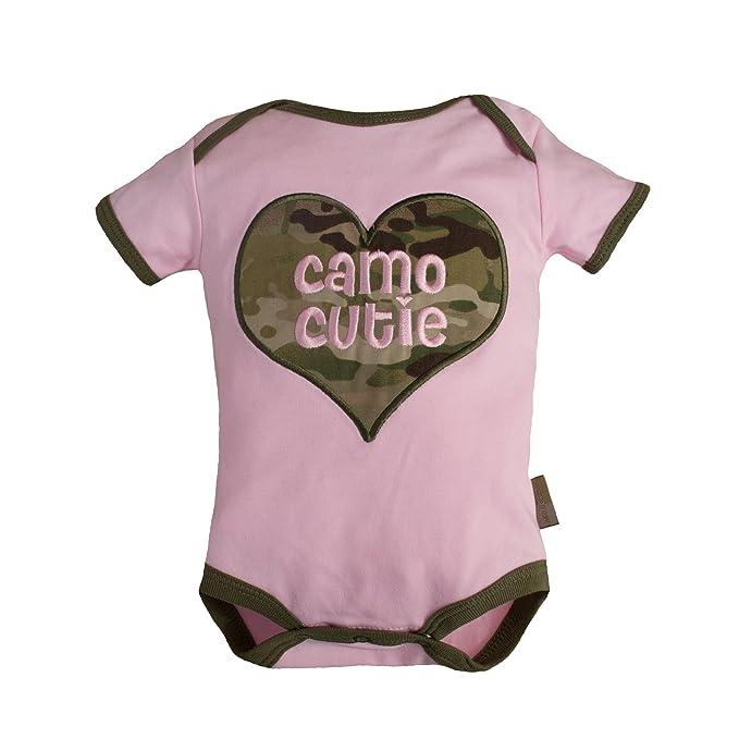 "8648c7e87 TC Tiny Trooper Baby ""Camo Cutie"" Bodysuit Pink and Multicam Camo (0-"